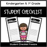 Student Checklist Freebie