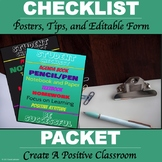 """Student Checklist Packet """"Editable Form"""""""