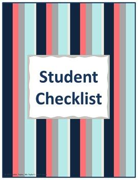 Student Checklist- Stripes
