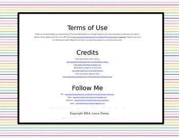 Student Checklist Templates - EDITABLE