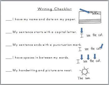 Student Checklist (Writing)