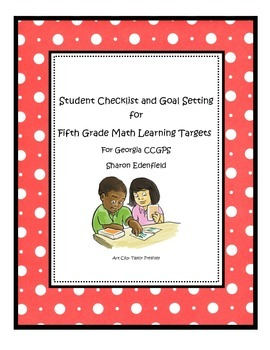 Student Checklist and Goal Setting for 5th Grade Math