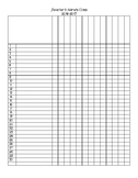 Student Checklist - editable