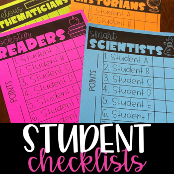 Student Checklists {Editable!}
