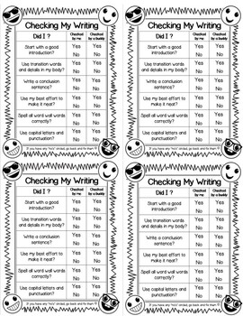 Student Checklists and Teacher Communication Forms