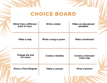Student Choice Board