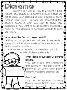 Student Choice Book Reports