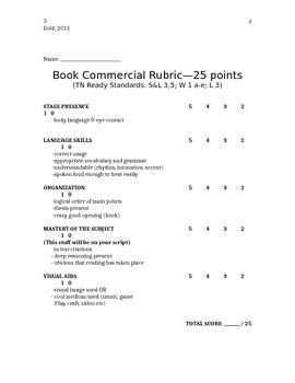 Student Choice Book Unit