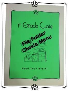 Student Choice File Folder Menu for ELA and Math