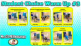 Student Choice Fitness Warm Up Powerpoint #3