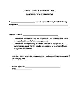 Student Choice Form