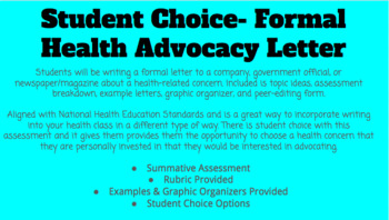 Student Choice Formal Health Advocacy Letter