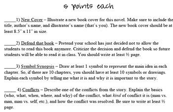 Student Choice Novel Project