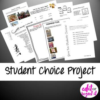 End of the Year Student Choice Assessment Project