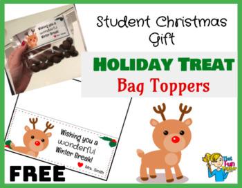 Student Christmas Gift - Holiday Bag Topper