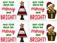 Student Christmas / Holiday Gift Tags