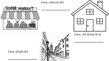 Student/Class Book Location in relation to objects/places (City)