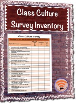 Student & Class Culture Survey Inventory