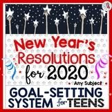 New Year's Resolutions 2019 Goal-Setting System, w/ Editab