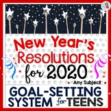 New Year's Resolutions 2019 Goal-Setting System, w/ Editable Workbook