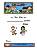 Camping Theme Student Planner (Editable)