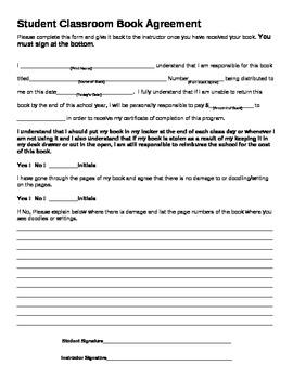Student Classroom Book Agreement