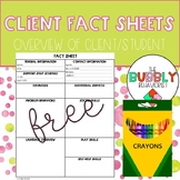Student/Client Special Ed Fact Sheets