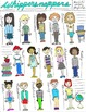 Student Clip Art: Hand Drawn Images of Pint Size Pupils in JPEG, PNG, PDF