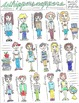 Student Clip Art: Hand Drawn Images of Pint Size Pupils in