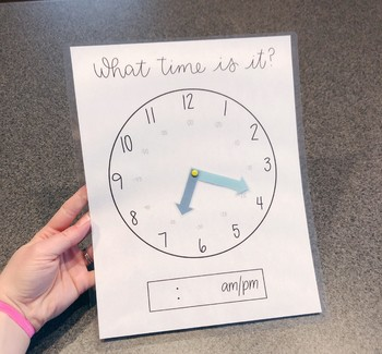 Student Clock, Personal Clock for learning analog time