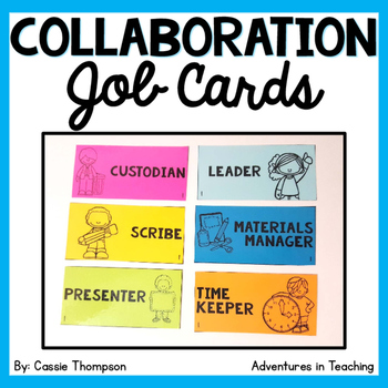 Student Collaboration Job Cards FREEBIE