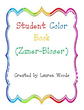 Student Color Book - Zaner Bloser