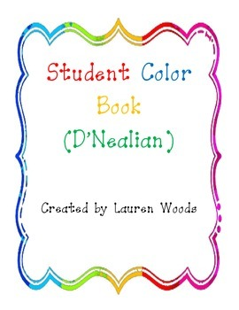 Student Color Books - D'Nealian