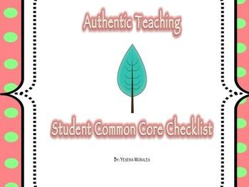 Student Common Core Checklist