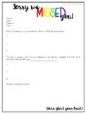 Student Communication Sheet