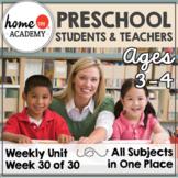 Student Community Helper - Plan, Printables for Preschool Homeschool Curriculum
