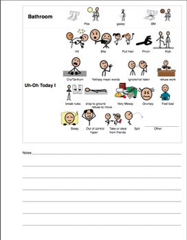 Student Completed Daily Note Home