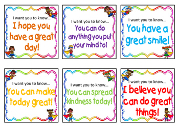 Student Compliment Cards - Kindness / Anti Bully / Character Education