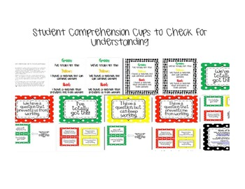 Student Comprehension Cups To Check for Understanding in the Classroom