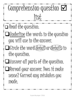 Student Comprehension toolkit