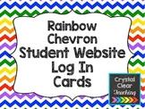 Student Computer Log In Cards - Rainbow Chevron