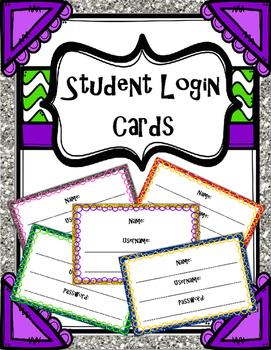 Student Computer Login Cards