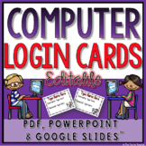 Student Computer Login Cards (Editable)