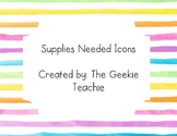 Classroom Supply Icons