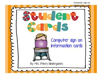 Student Computer Sign On Cards