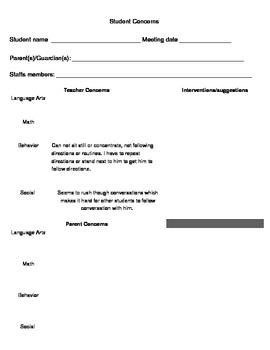 Student Concerns Form