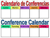 Student Conference Calendar Dual Language