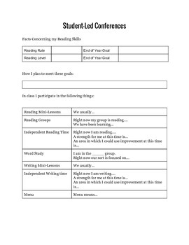 Student Conference Form