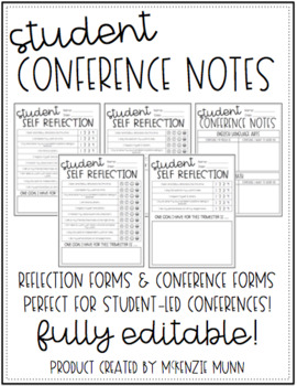 Student Conference Forms