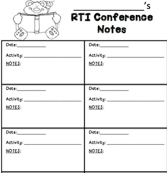 Student Conference Notes